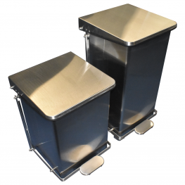 Shielded Waste Container with Pedal