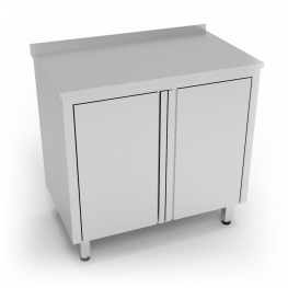 Stainless steel cabinet with two doors