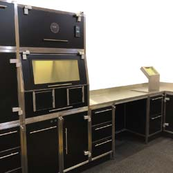Shielded hot lab furniture manufactured by Nuclear Shields