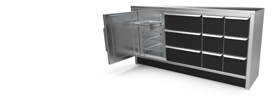 Nuclear Shields radiation shielded cabinets for radioactive source storage