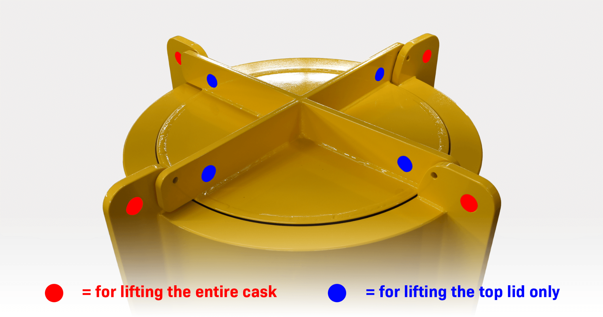 Lead shielded cask lifting points made by Nuclear Shields