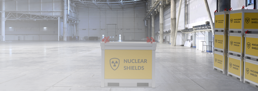 Shielded Nuclear Waste Container for Nuclear Power Plants