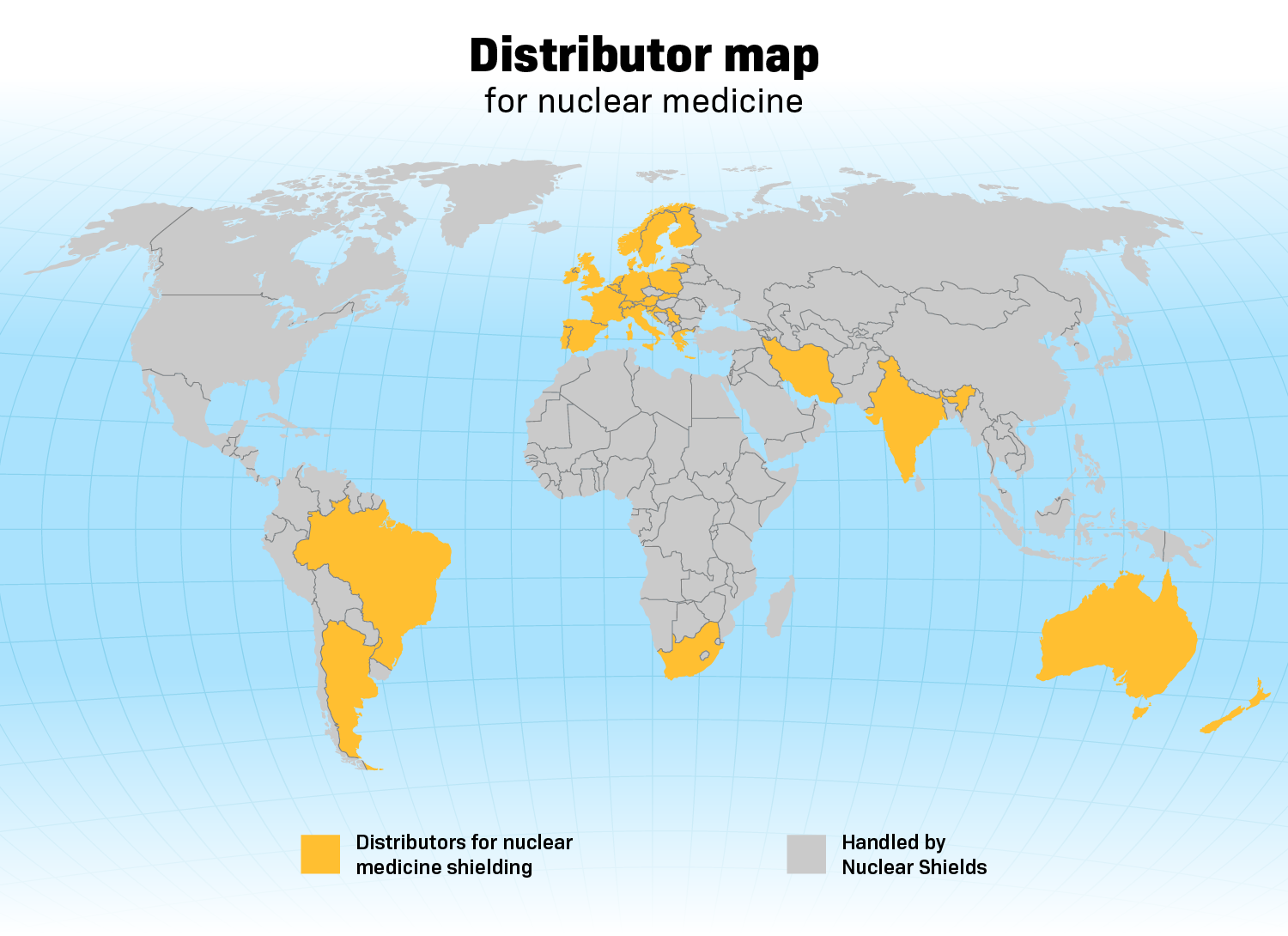 Nuclear Shields Distributor Map
