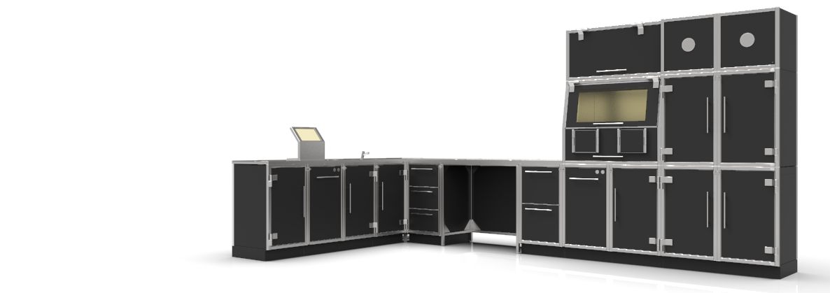 Nuclear Shields Modular Lead-lined Cabinets for Nuclear Medicine Departments in hotlabs.