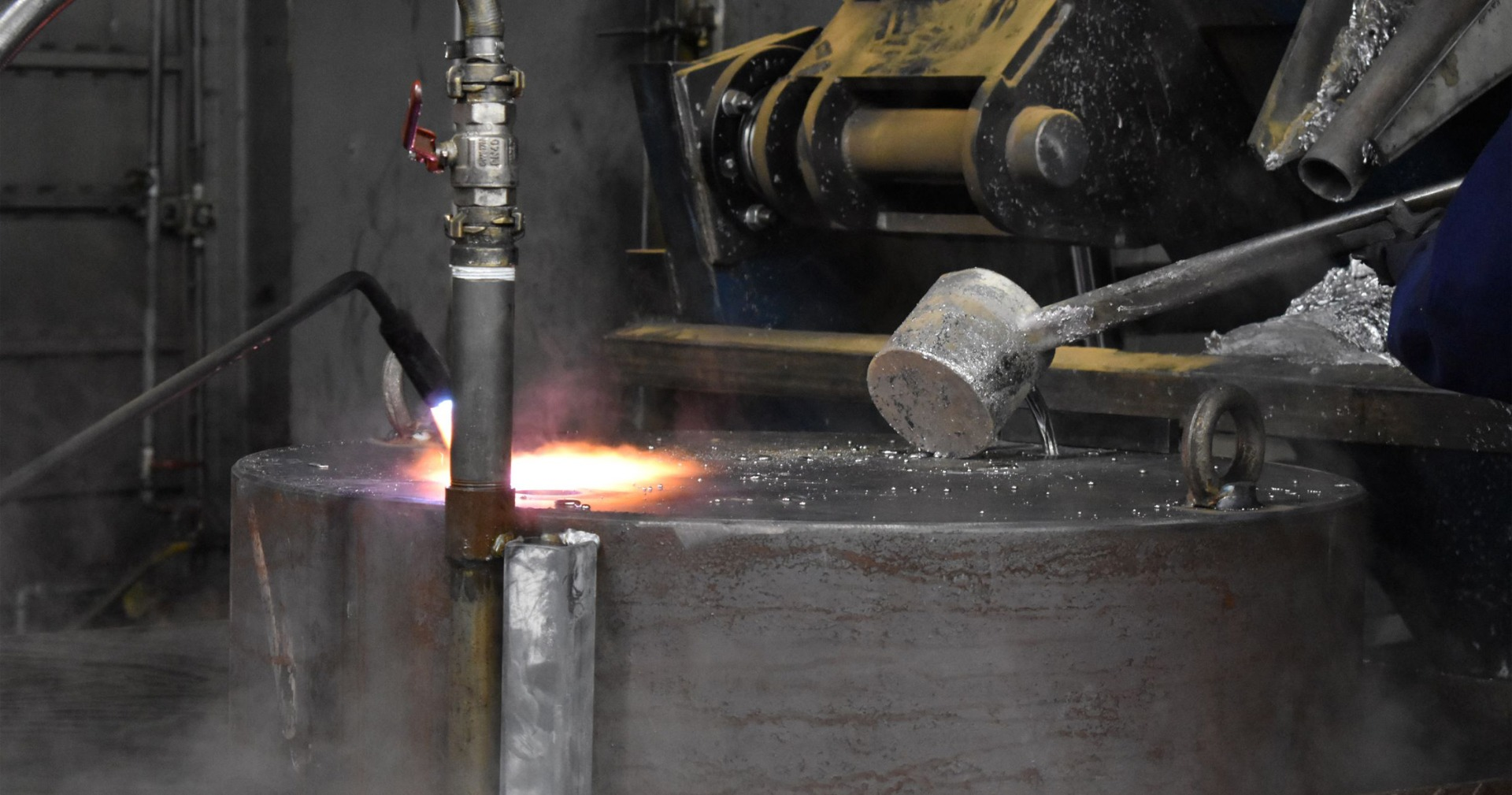 Nuclear lead pour for lead shielded cask from Nuclear Shields