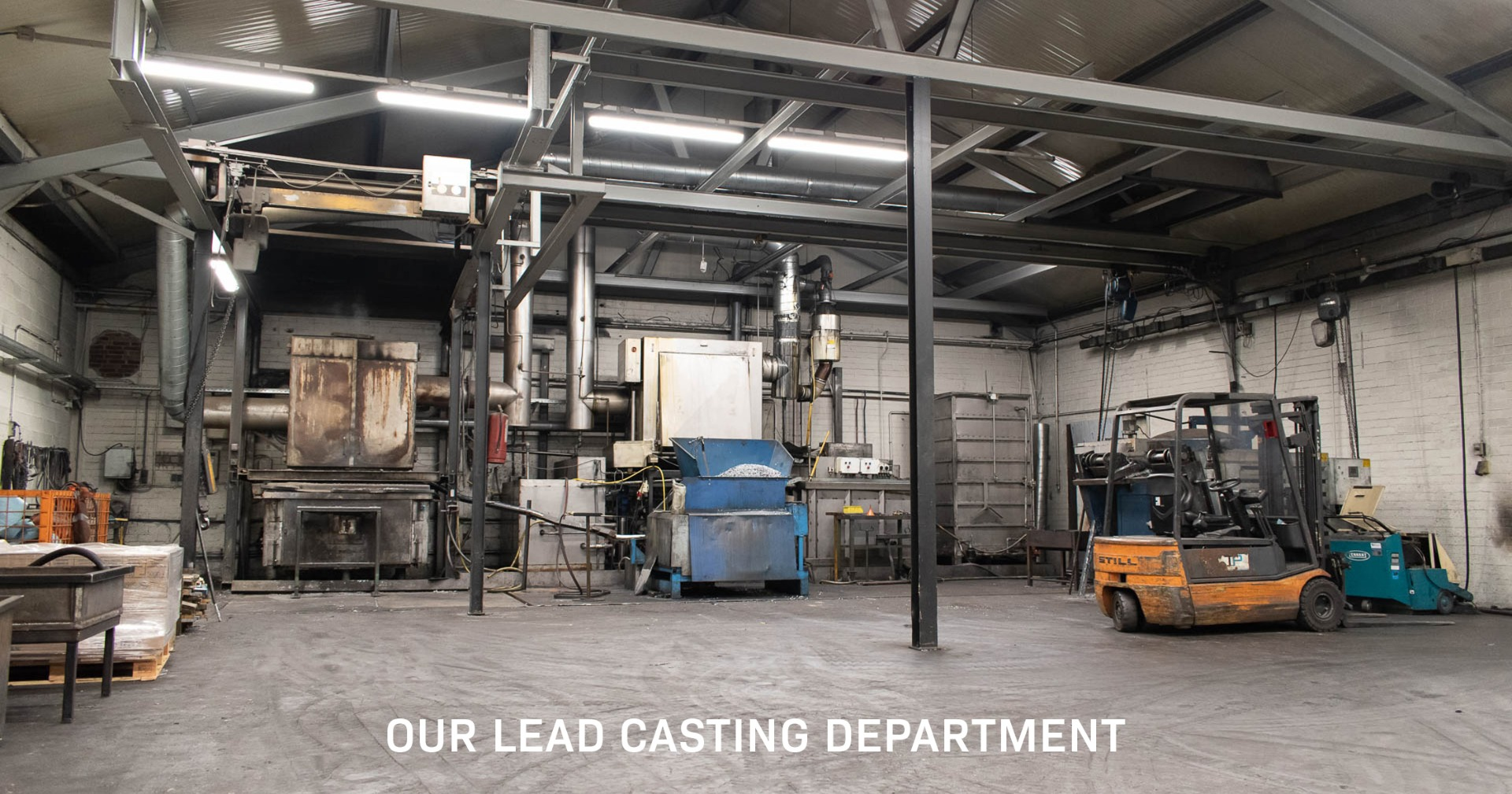 Lead casting department from Nuclear Shields