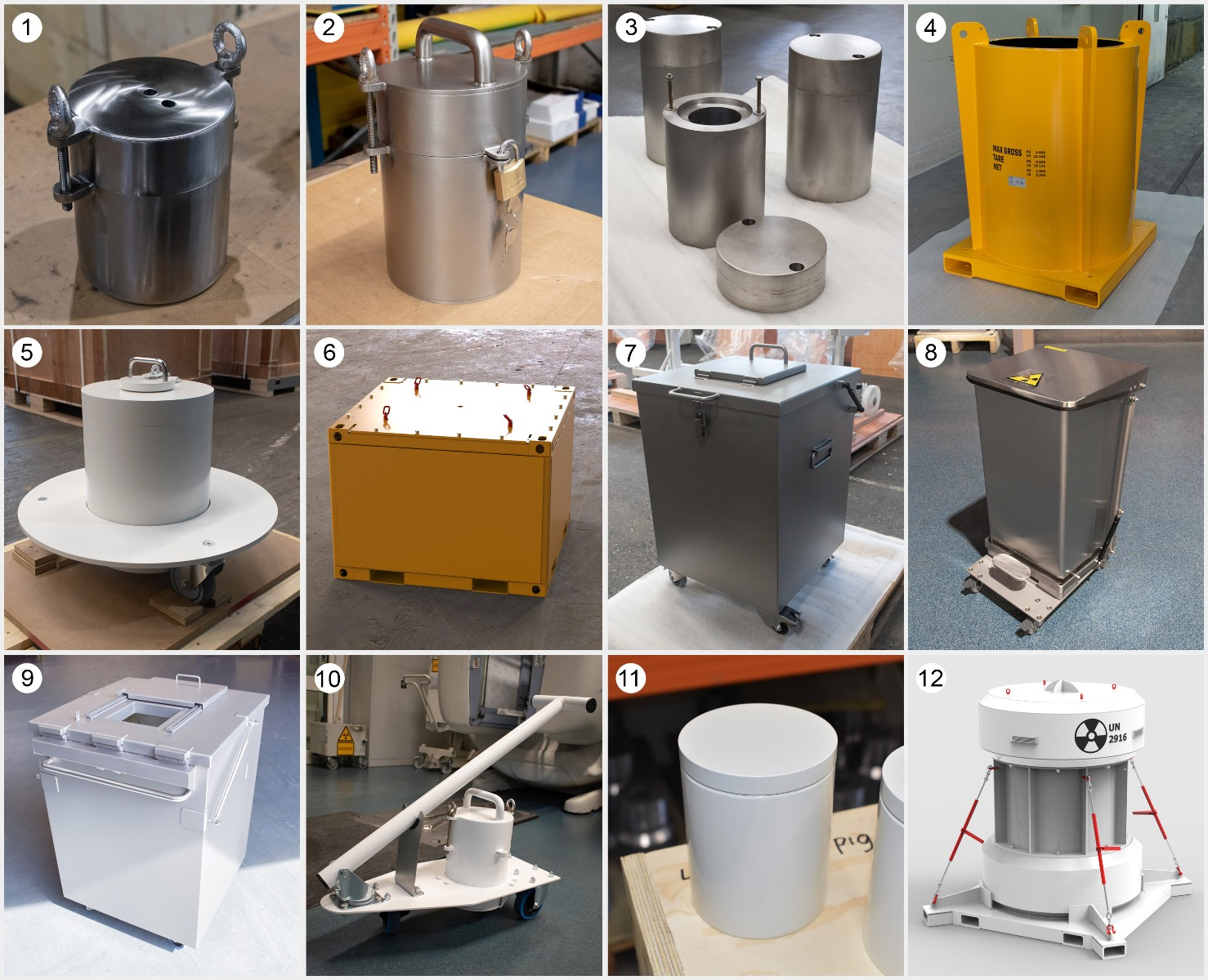 Lead containers Manufactured by Nuclear Shields