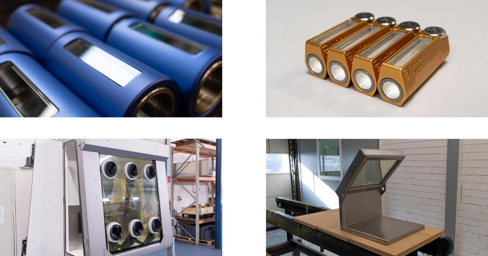 Integration of lead glass parts