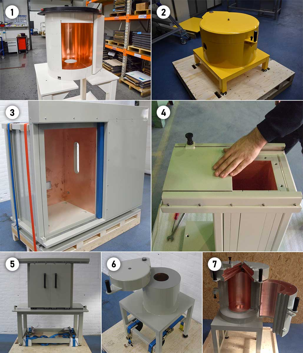 Low background radiation detector shielding