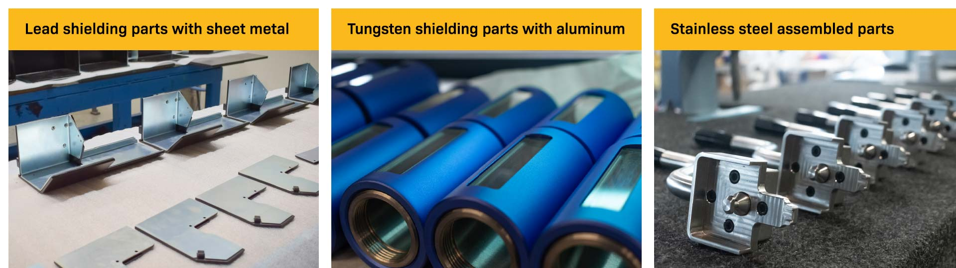OEM shielding parts manufactured by Nuclear Shields
