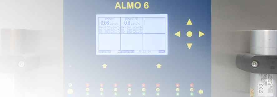 ALMO 6 stationary dose rate monitoring system.