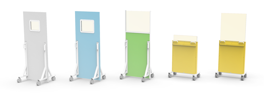 Mobile x-ray barriers for radiology departments